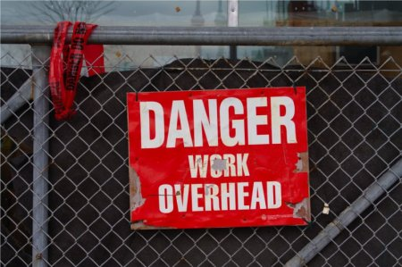 Danger Work Overhead