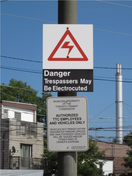 Danger Trespassers May Be Electrocuted