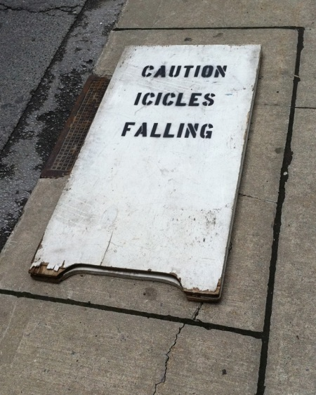 Caution Icicles Falling