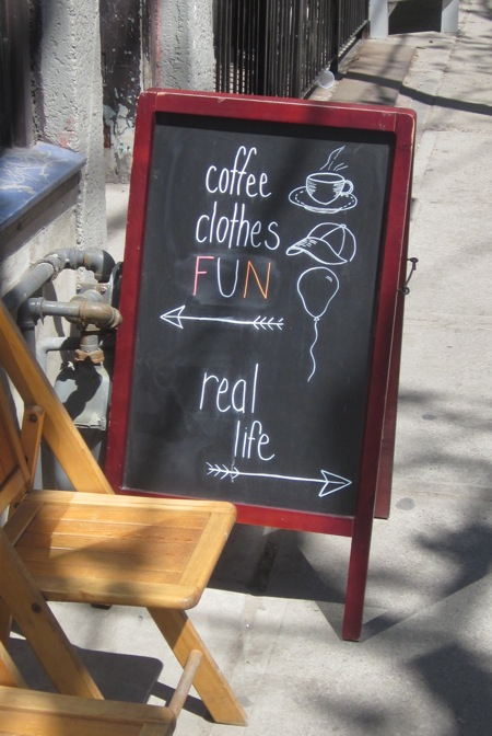 coffee clothes FUN real life